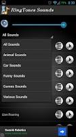 Screenshot of Ringtone Sounds