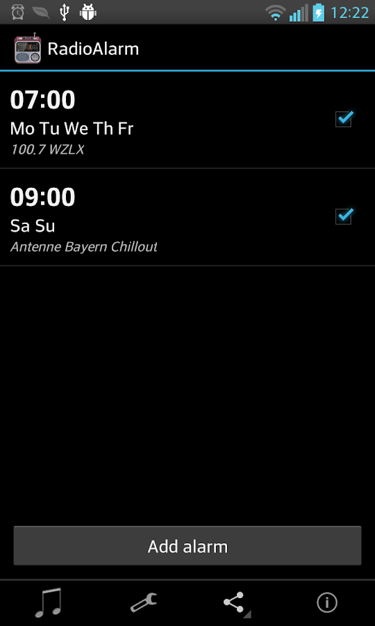 Alarm Clock Radio FREE - screenshot