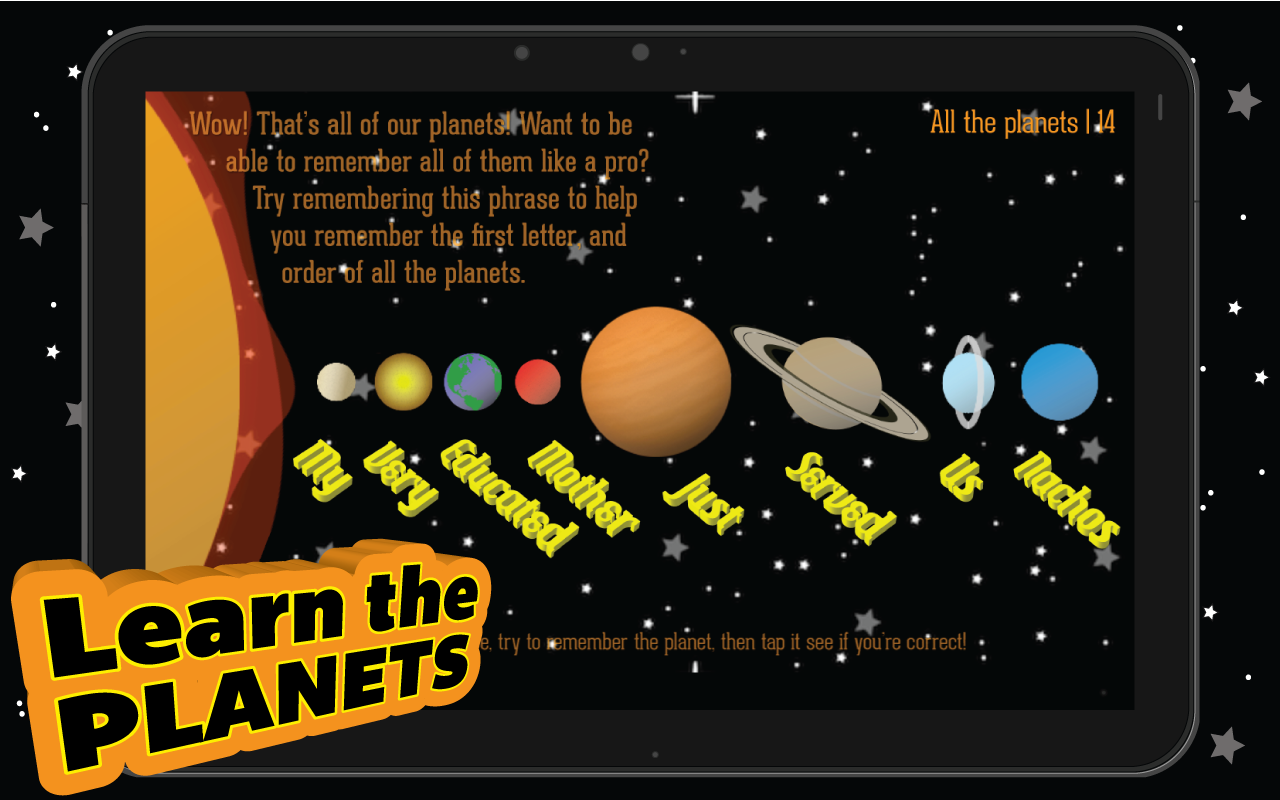 chart for light to all the planets - photo #8