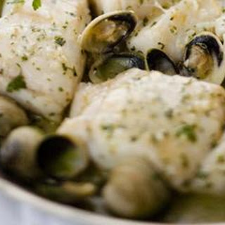 Hake with Clams and Parsley Recipe