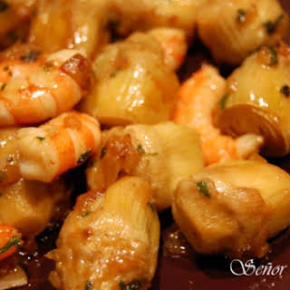 Artichoke Hearts with Shrimp: a Healthy and Easy Dish.