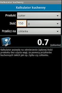Kalkulator kuchenny- screenshot thumbnail