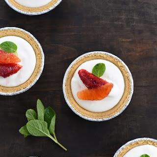 Mini Blood Orange & Frozen Yogurt Tarts.