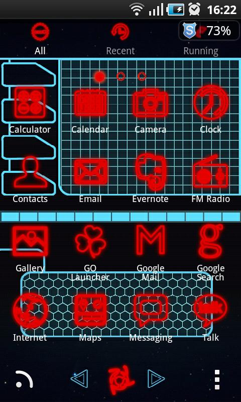 TronRed GO Launcher EX Themes - screenshot