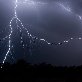 Lightning by William Greenfield - Landscapes Weather ( lightning, sky, night, storm, light )