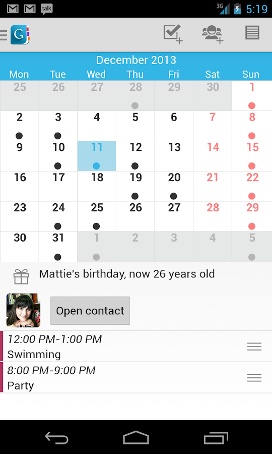 Day by Day Organizer Free - screenshot