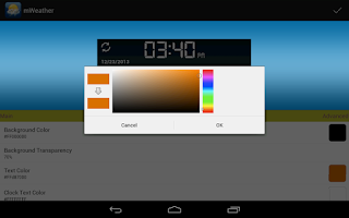 Screenshot of mWeather