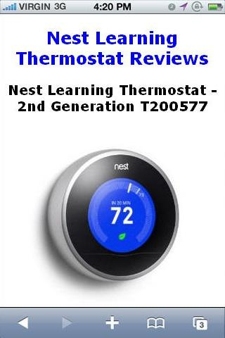 Learning Thermostat Reviews