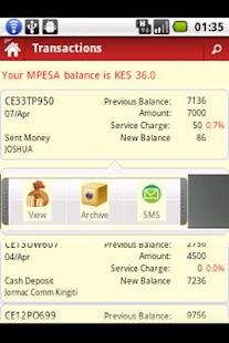 pesaDroid MPESA Tracking Tool- screenshot thumbnail