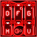GO Keyboard Red Tech Theme icon