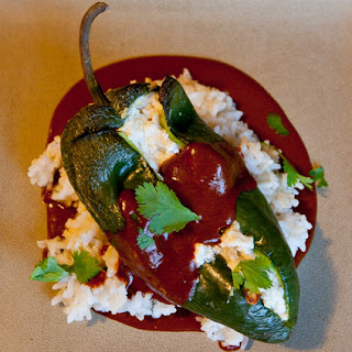 Stuffed Poblano Peppers.