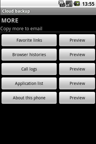 Cloud backup 2- screenshot