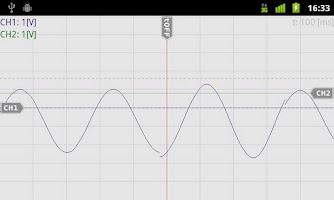 Screenshot of OsciPrime Oscilloscope Legacy