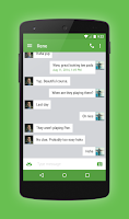 Screenshot of EvolveSMS Theme Green Accents