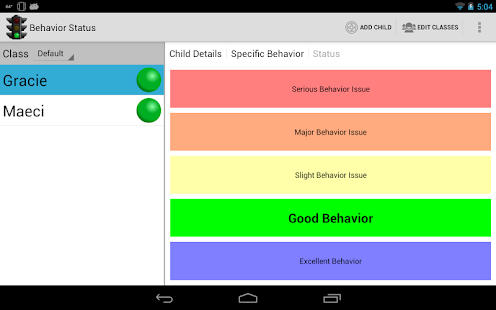Behavior Status- screenshot thumbnail