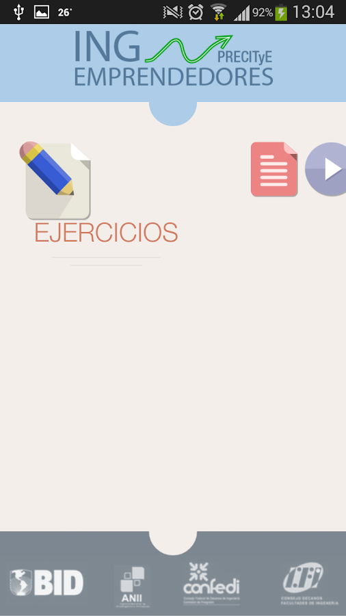 INGEmprendedores - screenshot