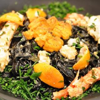 Torched Uni King Crab Tagliatelle Recipe