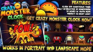 Screenshot of Crazy Monster Clock
