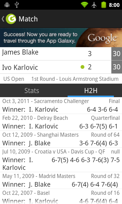 Indian Wells Tennis Live Score - screenshot