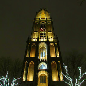 De Dom at night. by Fred Starkey - Buildings & Architecture Places of Worship (  )