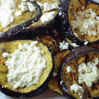 Baked Eggplant with Feta Cheese.