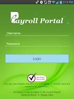 Screenshot of ePayroll Portal