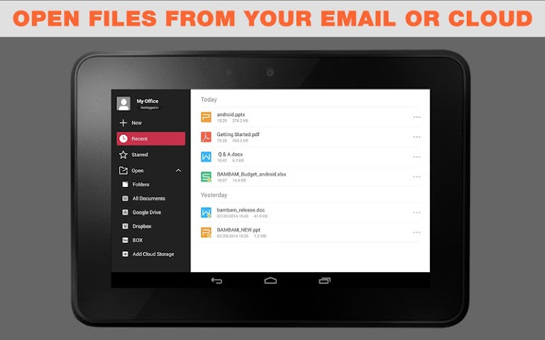 android WPS Office + PDF Screenshot 4