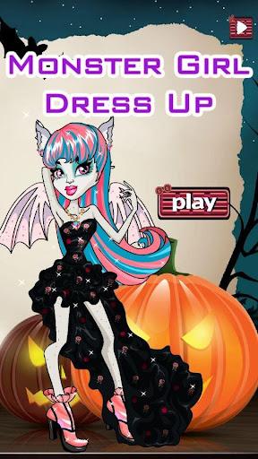 monster dress up girl Hallowee