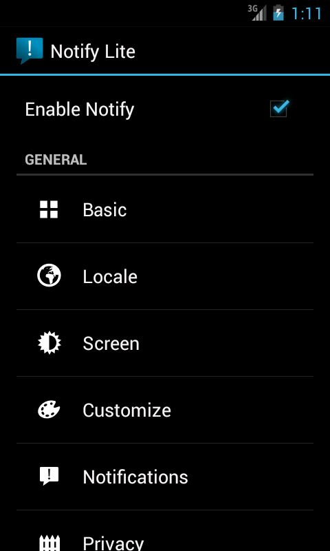 Notify Lite- screenshot