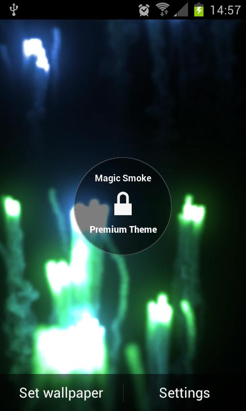 Magic Smoke 3D Live Wallpaper - screenshot