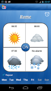 Alarm Weather (Alarm Clock) Screenshot 1