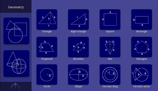 Geometry. Calculator