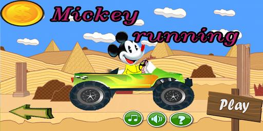 Mickey runing