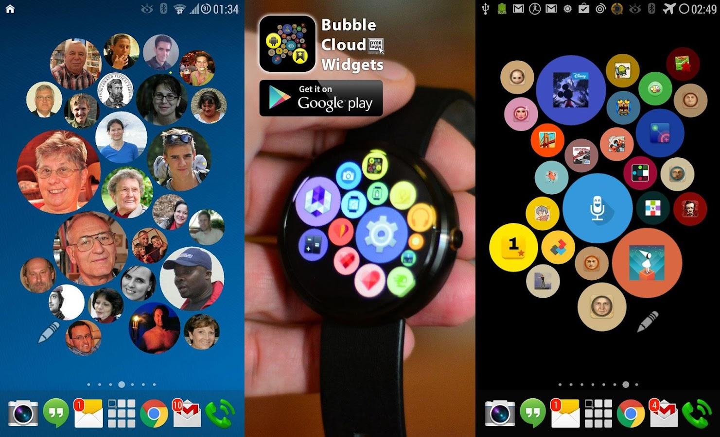 Bubble Widgets + Wear Launcher