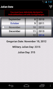 Julian Day Calandar- screenshot thumbnail