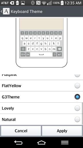G3 Keyboard LG THEME