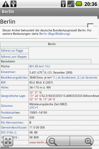 WikiDroyd - screenshot