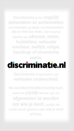 Discriminatie melden