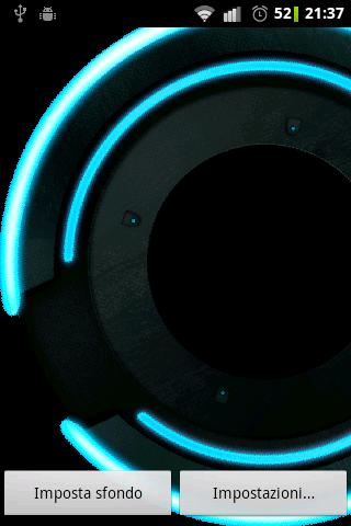 Neon Disk Live Wallpaper - screenshot
