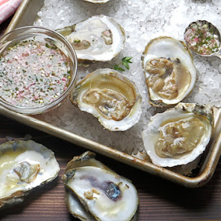 Oysters With Thyme Mignonette.