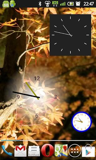 好きな色と形と大きさが設定できる『アナログ時計ウィジェット』