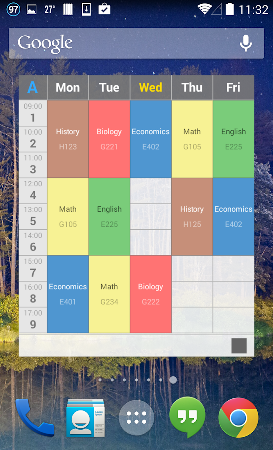 Handy Timetable- screenshot