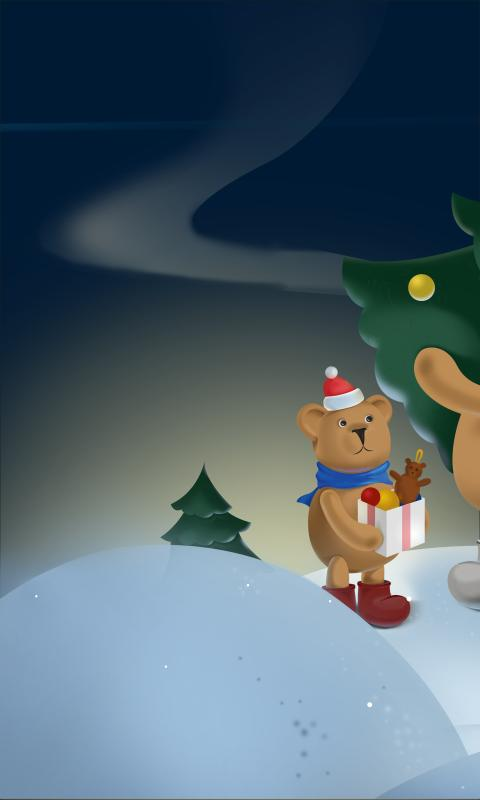 Christmas Bears Free LWP - screenshot