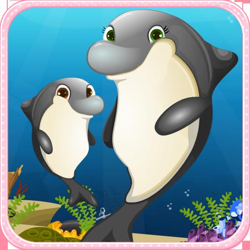 海豚出生游戏的女孩 休閒 App LOGO-APP試玩