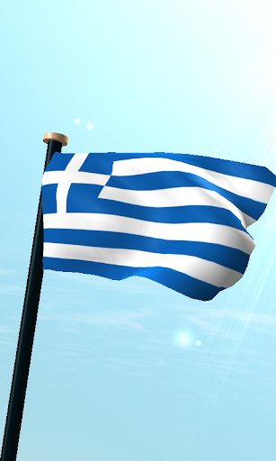 Greece Flag 3D Free Wallpaper