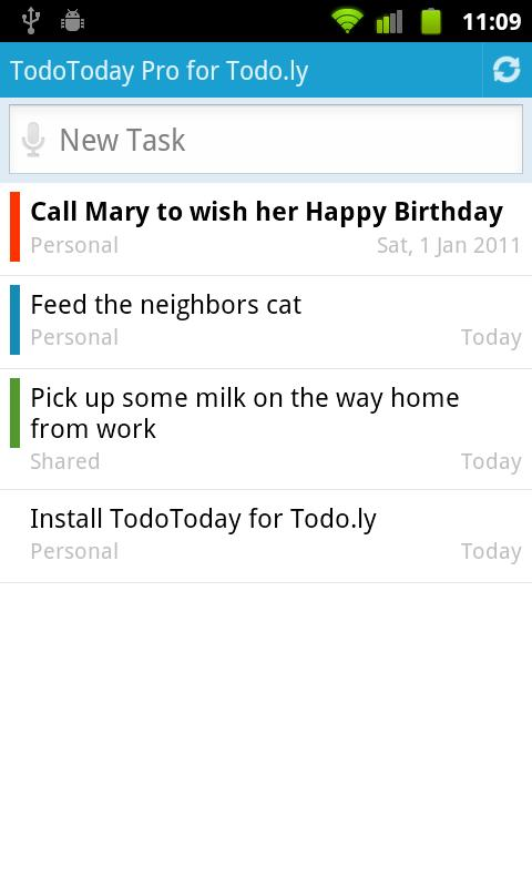 TodoToday Pro for Todo.ly - screenshot