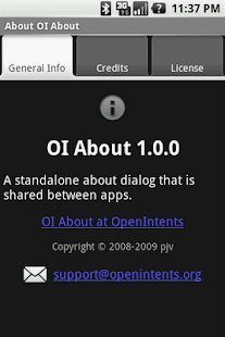 OI About - screenshot thumbnail