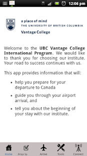 UBC Vantage College PAL- screenshot thumbnail