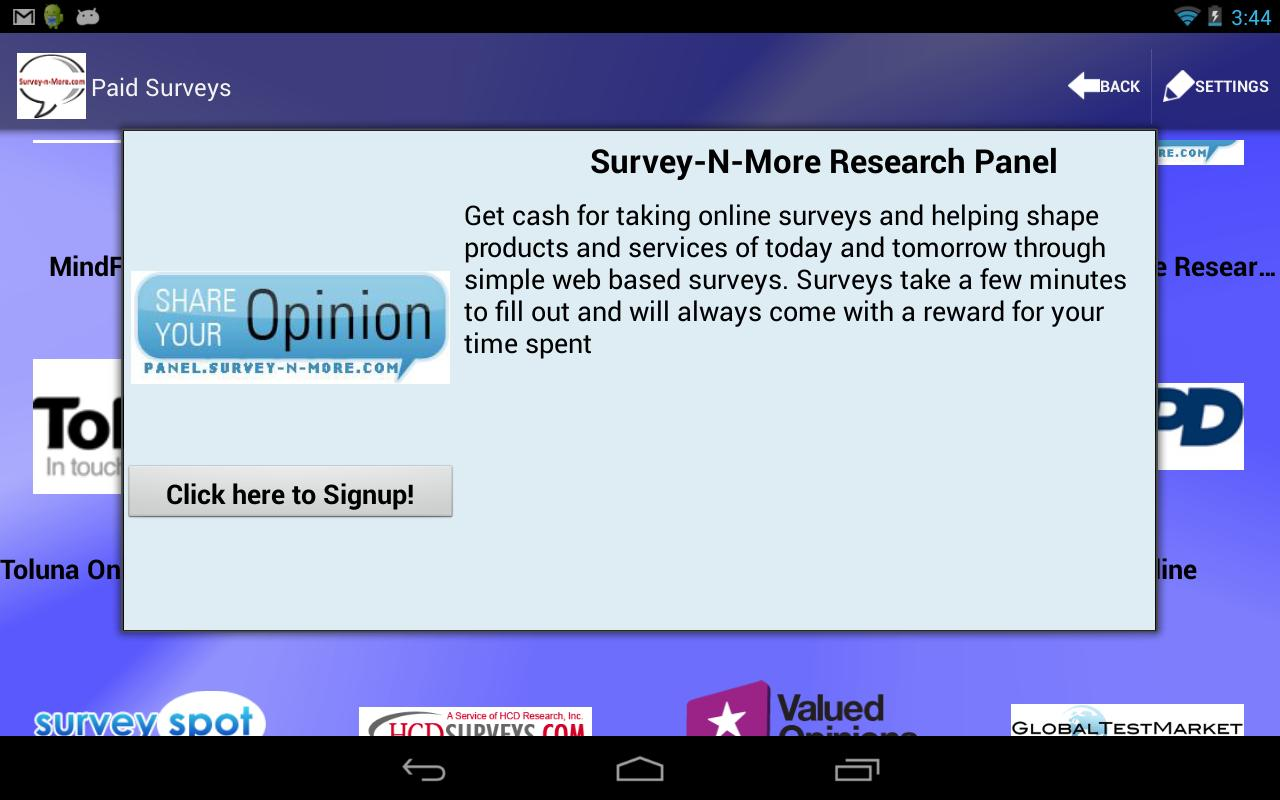 Survey-n-More - Paid Surveys - screenshot