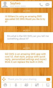 GO SMS Pro List ThemeEX - screenshot thumbnail